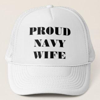 Hat Proud Navy Wife