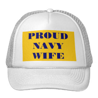 Hat Proud Navy Wife