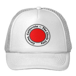 Hat Red Black White Corona CA The Circle City