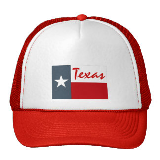 Hat Red Denim White Texas The Lone Star State