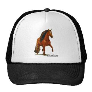 Hat, Red Peruvian Paso Trucker Hat