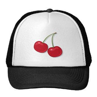 Hat: Red ripe cherries