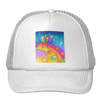 Hat - Retro Pop Art Sixties Sky