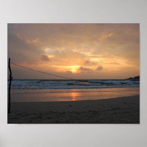 Hat Rin Beach Sunrise ... Koh Phangan, Thailand Poster ...