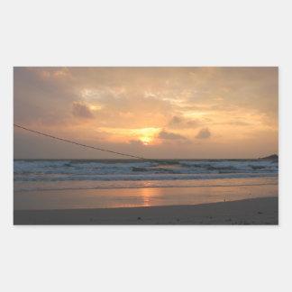 Hat Rin Beach Sunrise ... Koh Phangan, Thailand Rectangle Sticker