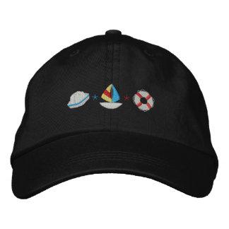 Hat/ Sailboat/ Life Preserver Embroidered Baseball Cap