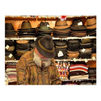 Hat Seller Postcard