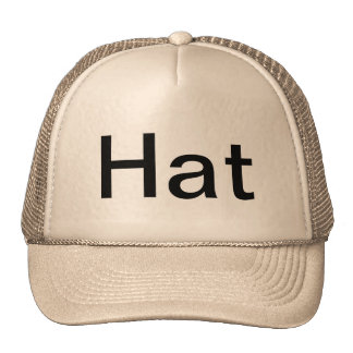 Hat (Sentence case)