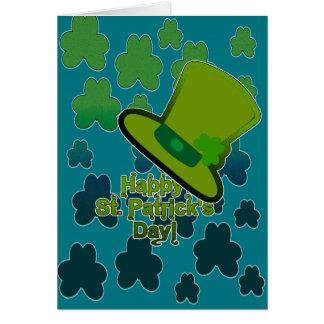 Hat&shamrocks card