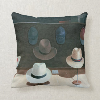 Hat Shop 1990 Throw Pillow