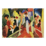 Hat shop at the promenade by August Macke Posters