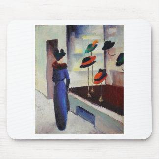 Hat Shop - August Macke Mouse Pad