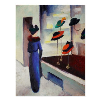 Hat Shop - August Macke Postcard