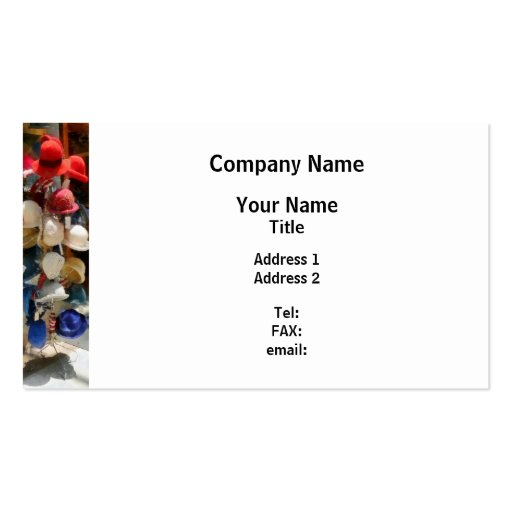 hat Shop Business Card Templates