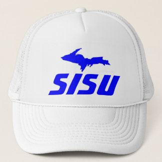 HAT~ Sisu Finnish Heritage & Upper Peninsula of MI Trucker Hat