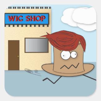 Hat Stealing a Wig Sticker