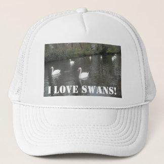 Hat Swans Swimming, I Love Swans