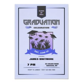 Hat Toss Graduation Invitation