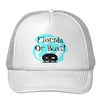 Hat Travel Trailer Florida or bust FL Trip camp