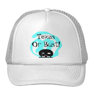 Hat Travel Trailer Texas or bust TX Trip camp