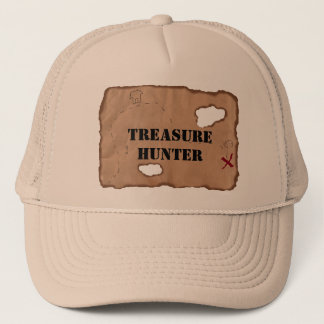 Hat: Treasure Hunter on an Old Map Trucker Hat