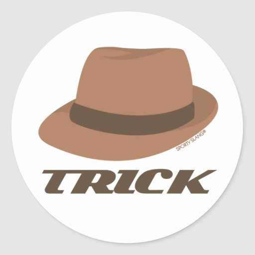 Hat Trick - Gifts for Sports Fans Round Sticker