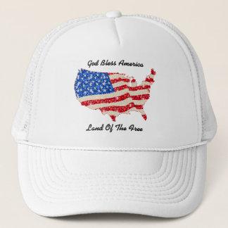 Hat USA Flag God Bless America