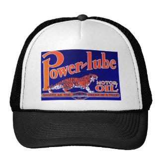 HAT~ VINTAGE Power-Lube Motor Oil Automotive Car Trucker Hat