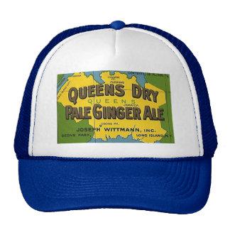 HAT~ VINTAGE Queens Dry Pale Ginger Ale Soda Map Trucker Hat