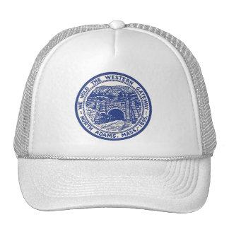 HAT ~ Vintage Seal Train Hoosac Tunnel Railroad MA