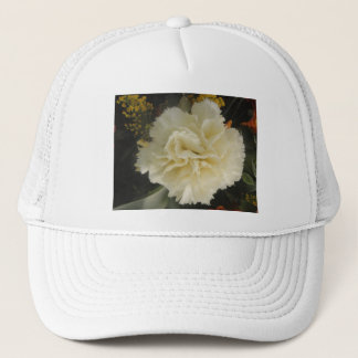 Hat White Carnation Beauty