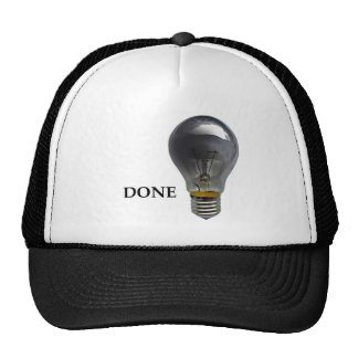 Hat with a burnt out bulb