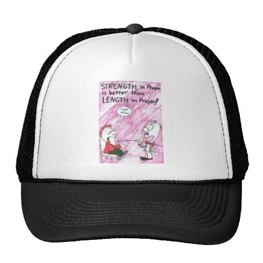 Hat with animated funny church signs