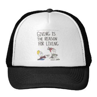 Hat with animated pictures of funny church saying