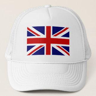 Hat with british union jack flag