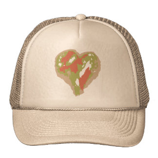 Hat with Camouflage Heart Design