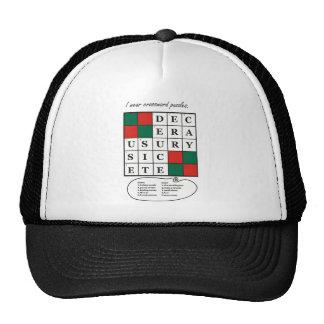Hat with Crossword Puzzle Design