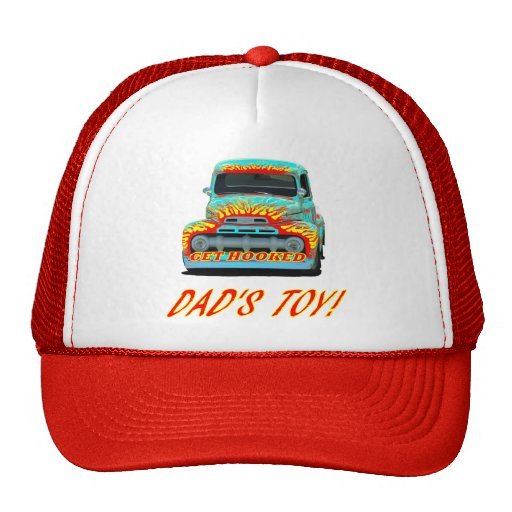 """Hat with """"DAD'S TOY!"""" design"""