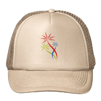 hat with fireworks creative