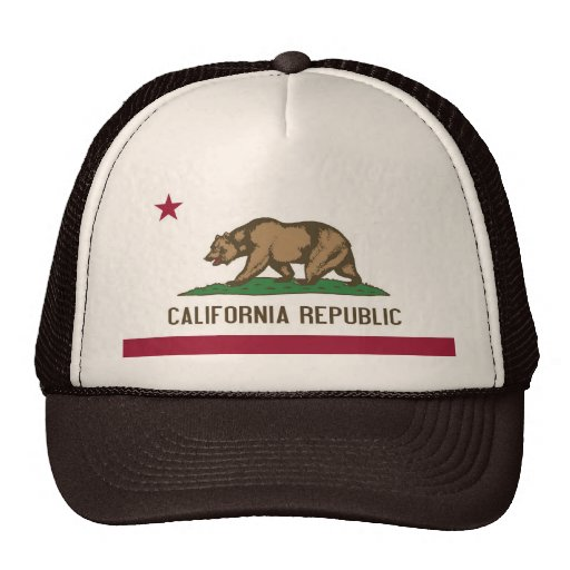 Hat with Flag of  California State - USA