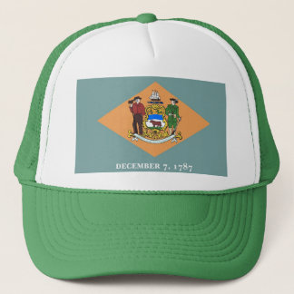 Hat with Flag of  Delaware State - USA