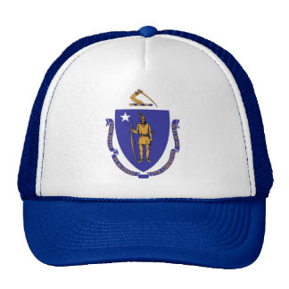 Hat with Flag of Massachusetts State - USA
