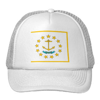 Hat with Flag of Rhode Island State - USA