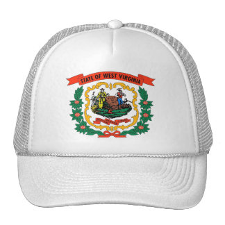 Hat with Flag of West Virginia State - USA