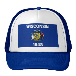 Hat with Flag of Wisconsin State - USA