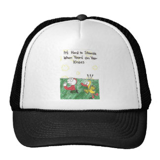HAT with funny church signs and animated pictures