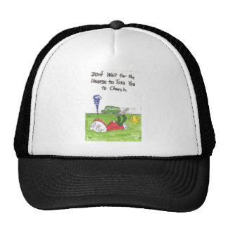 Hat with funny church signs, animated