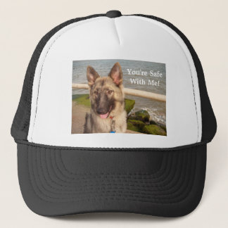 Hat With German Shepherd