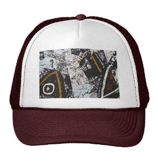 Hat with Hand Painted Collage