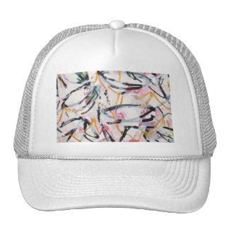 Hat with Hand Painted Design